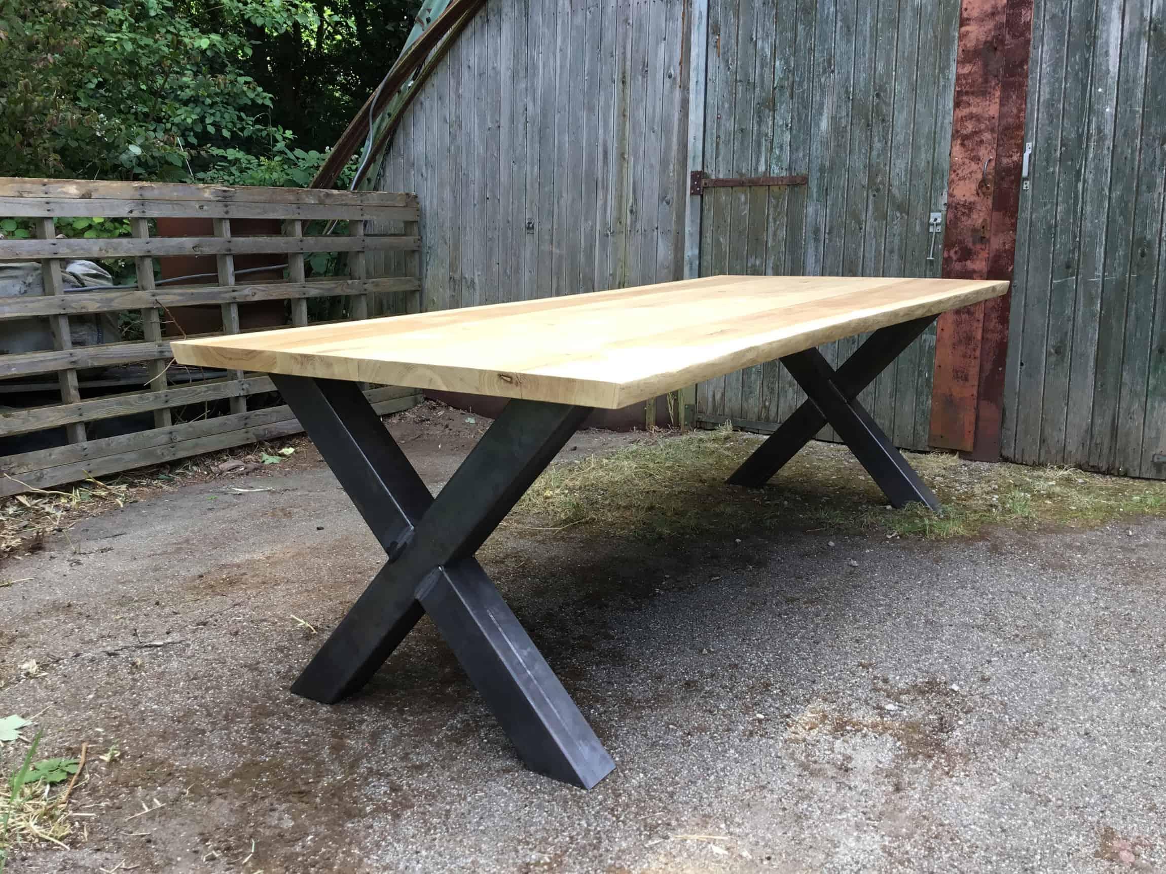 Tafel X Poot : Een boomstamtafel puur natuur woodcreations