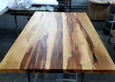 Tafelblad peer afgewerkt met olie
