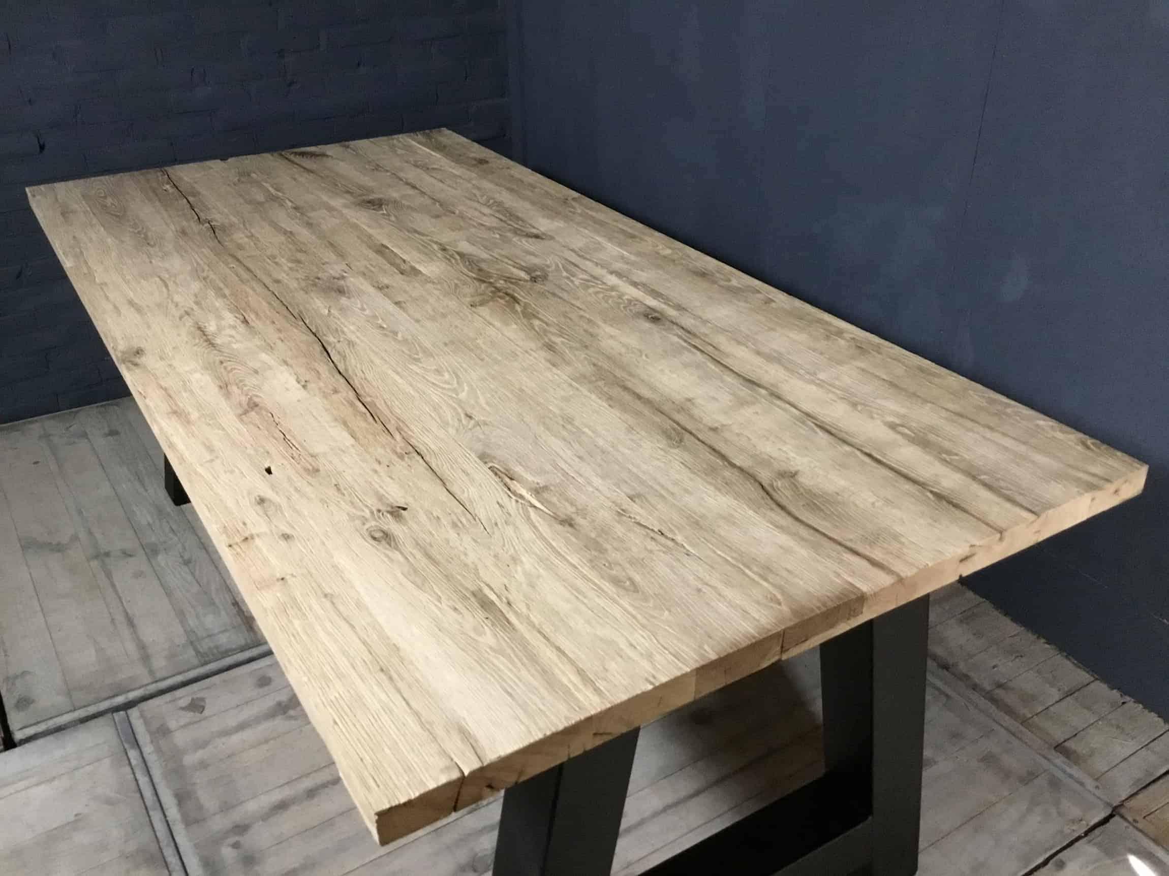 Eiken tafel oud hout: meuleman mmh hout met een verleden. oud eiken
