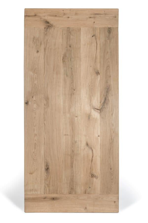 Rustiek eiken blad met kopbalk en extra brede planken.