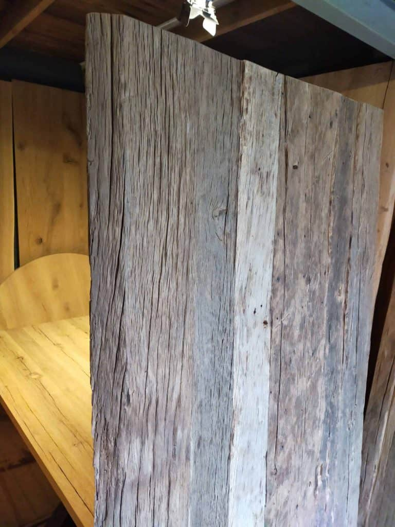 Robuust oud eiken tafelblad
