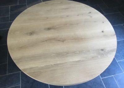 Rond tafelblad rustiek eiken