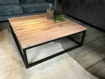 Vierkante salontafel eiken