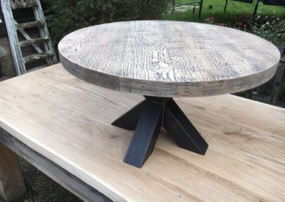 Ronde salontafel met spinpoot