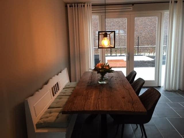 Robuust oud eiken tafel 240x100 cm