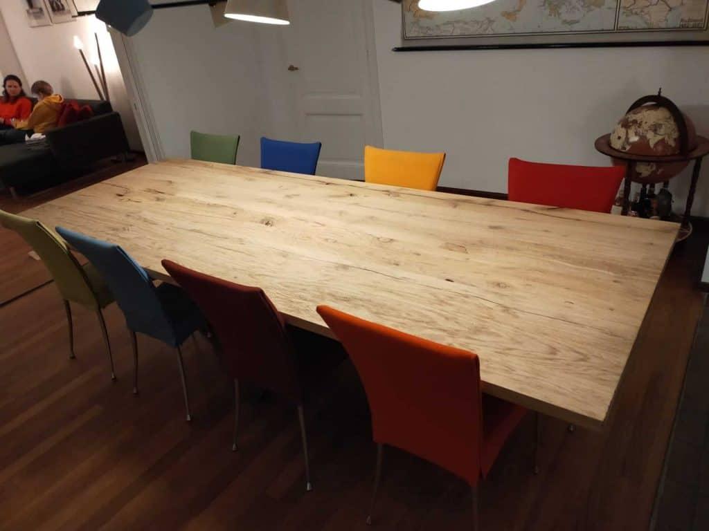 Oud eiken tafel 300x110 cm
