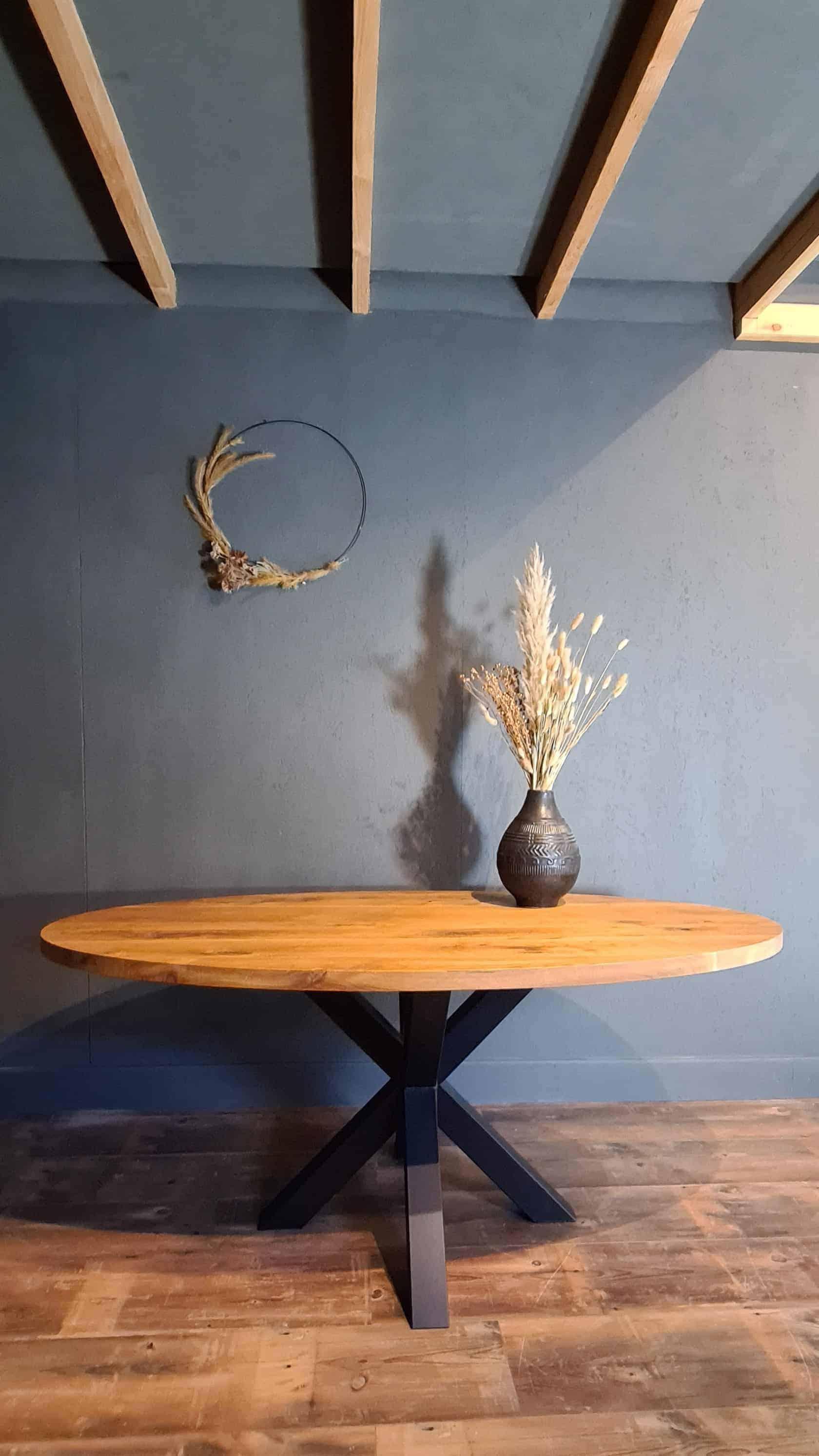 Kleine ovale tafel 180x90 cm