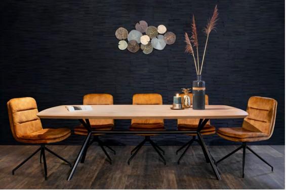 Deens ovale tafel met Rex onderstel