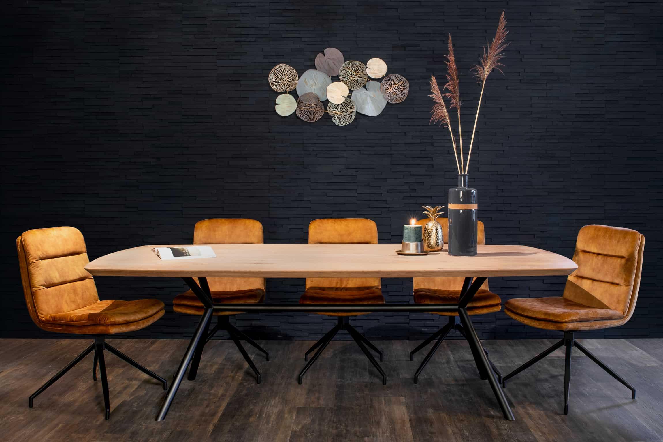 Eiken Deens ovale tafel met Rex-long onderstel
