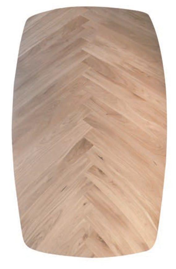 Deens ovaal visgraat tafelblad
