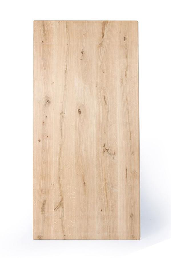 Voorbeeld van een rustiek eiken tafelblad.